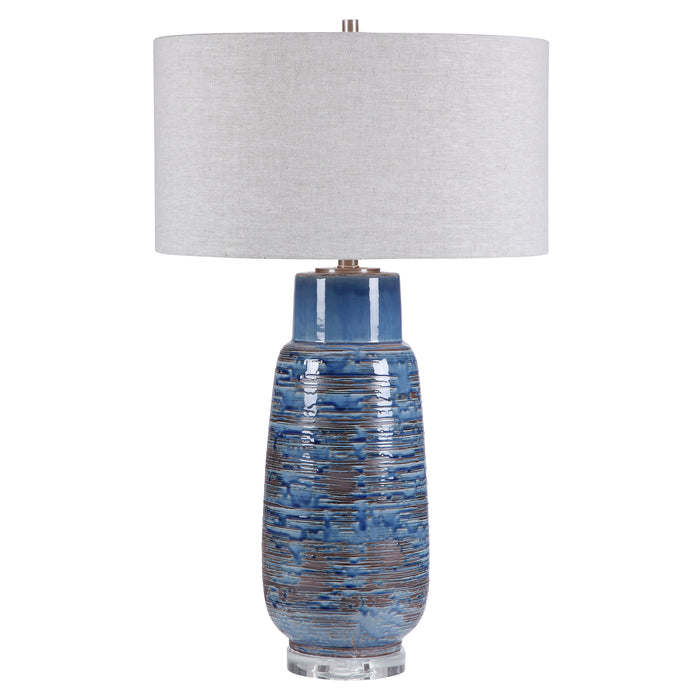 Uttermost 28276 Magellan Blue Table Lamp