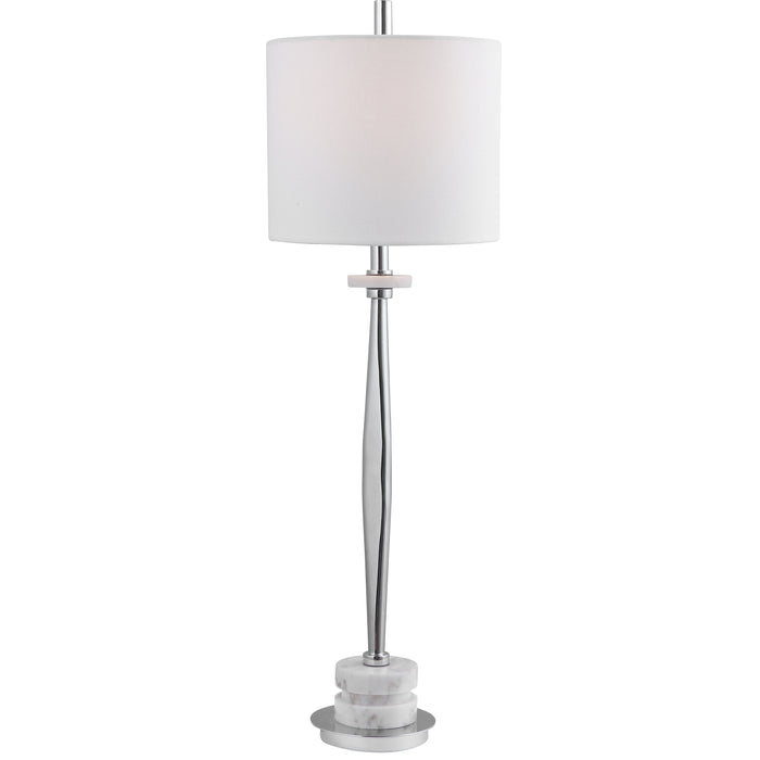 Uttermost 29749-1 Magnus Chrome Buffet Lamp