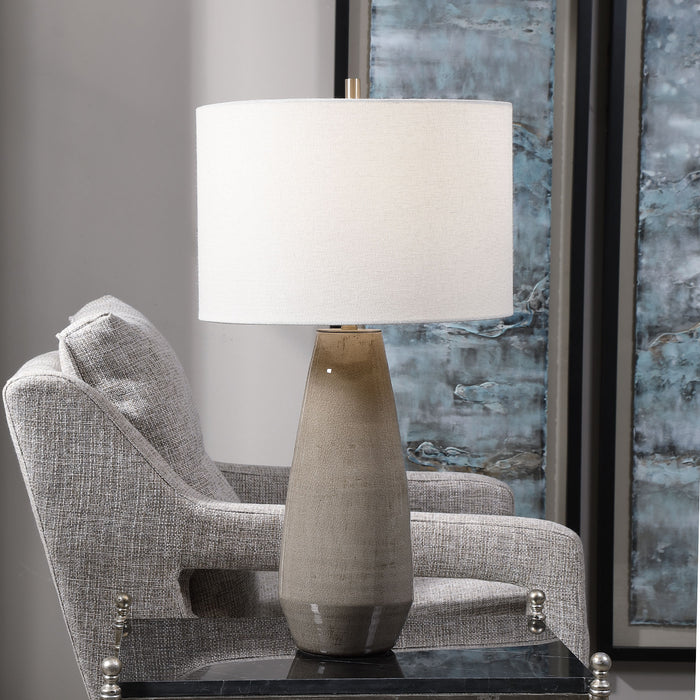 Uttermost 28394-1 Volterra Taupe-Gray Table Lamp