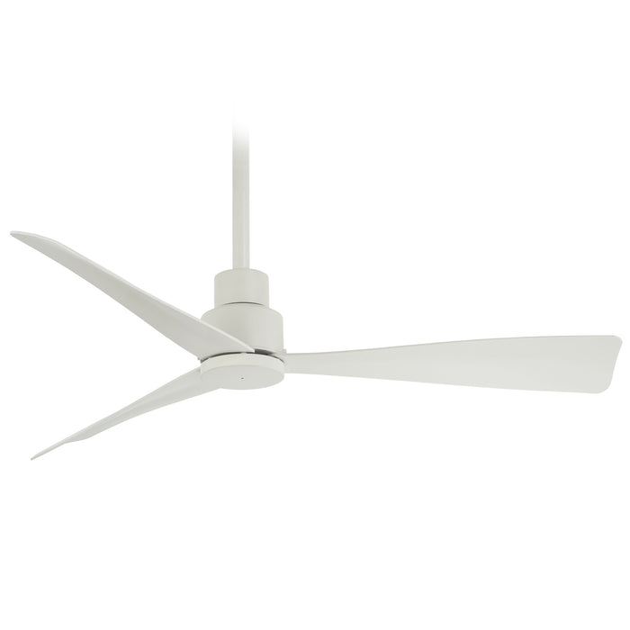Minka Aire Simple 44 in. Indoor/Outdoor Flat White Ceiling Fan with Remote