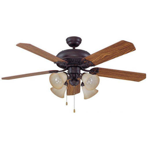 "Craftmade MAN52ABZ5C4 Manor Aged Bronze Brushed 52"" Ceiling Fan"