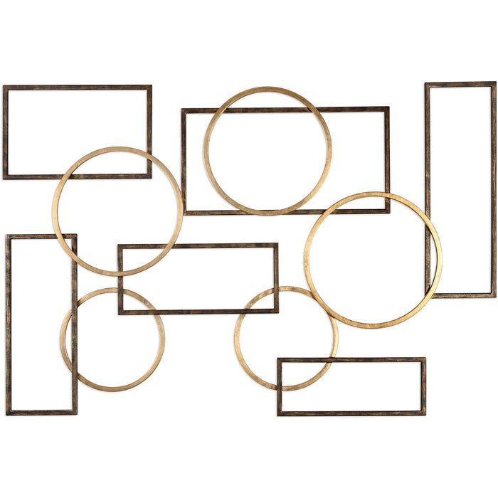 Uttermost 4062 Elias Bronze And Gold Wall Art