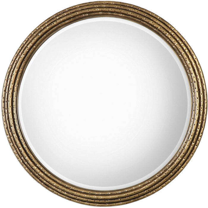 Uttermost 9183 Spera Round Gold Mirror