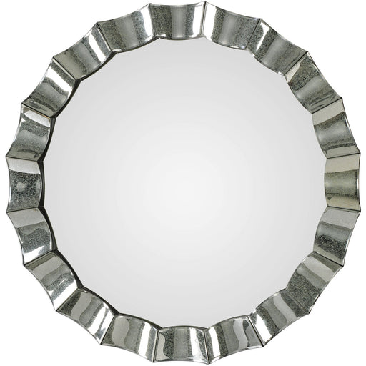 Uttermost 9334 Sabino Scalloped Round Mirror