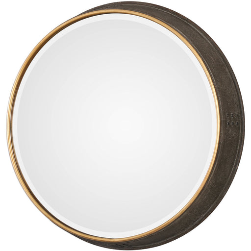 Uttermost 9372 Sturdivant Antiqued Gold Round Mirror