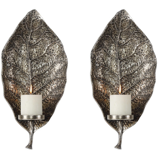 Uttermost 4138 Zelkova Leaf Wall Sconces Set of 2