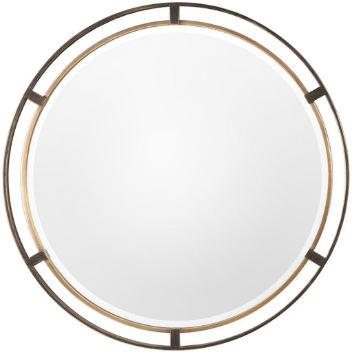 Uttermost 9332 Carrizo Bronze Round Mirror