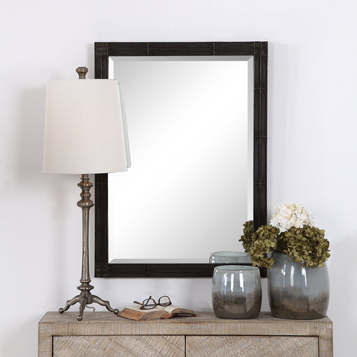 Uttermost 09485 Gower Aged Black Vanity Mirror
