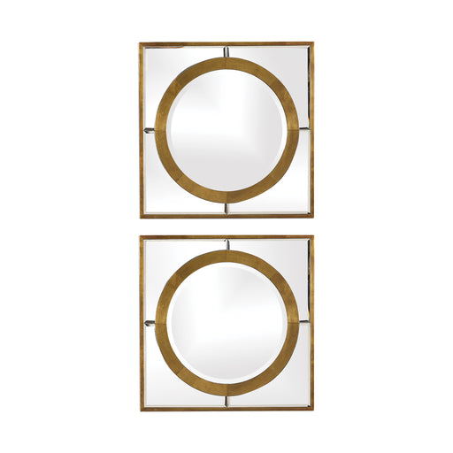 Uttermost 09488 Gaza Gold Square Mirrors Set of 2