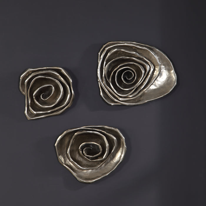 Uttermost 04184 Amalie Metal Spiral Wall Decor, Set of 3
