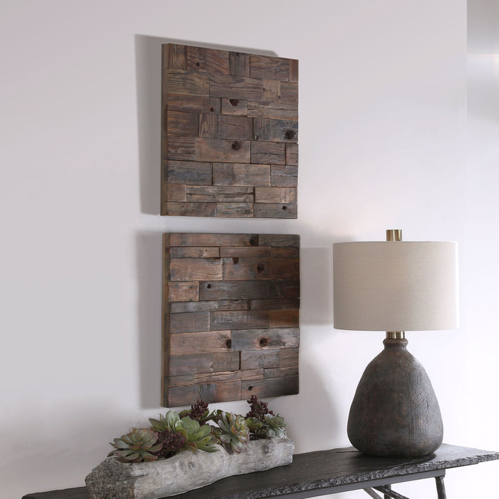 Uttermost 04239 Astern Wood Wall Decor, Set of 2