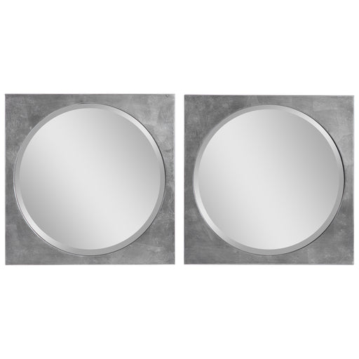 Uttermost 09641 Aletris Modern Square Mirrors, Set of 2