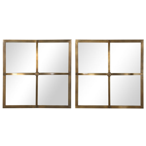 Uttermost 09648 Window Pane Square Mirrors, Set of 2