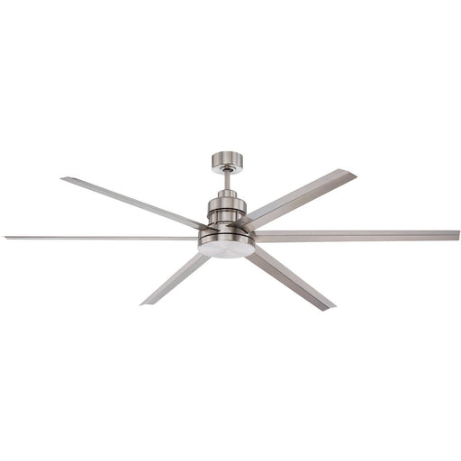 "Craftmade MND72BNK6 Mondo Brushed Polished Nickel 72"" Outdoor Ceiling Fan"
