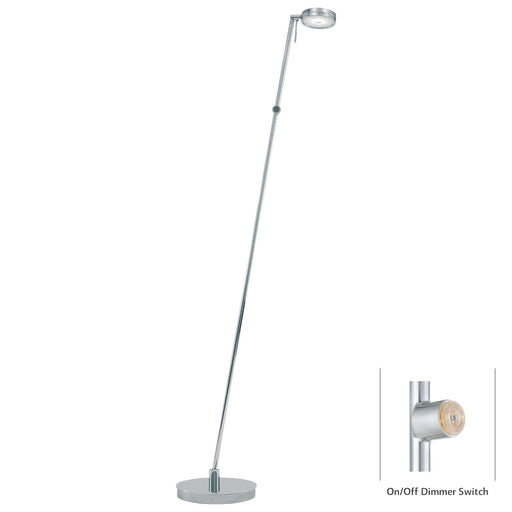 George Kovacs P4304-077 George's Reading Room Chrome LED Floor Lamp