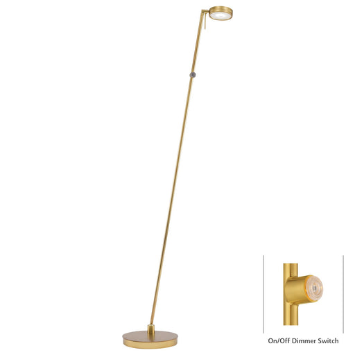George Kovacs P4304-248 George's Reading Room Honey Gold LED Floor Lamp