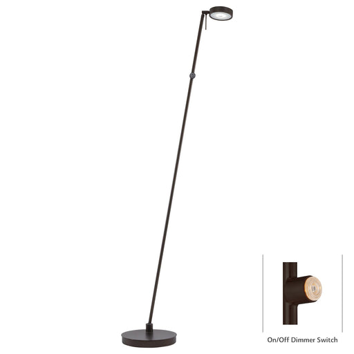 George Kovacs P4304-647 George's Reading Room Copper Bronze Patina LED Floor Lamp