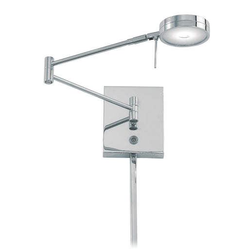 George Kovacs P4308-077 George's Reading Room Chrome LED Swing Arm Wall Lamp