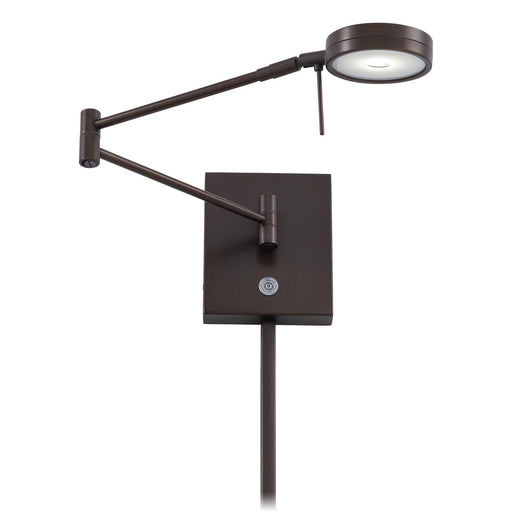 George Kovacs P4308-647 George's Reading Room Copper Bronze Patina LED Swing Arm Wall Lamp