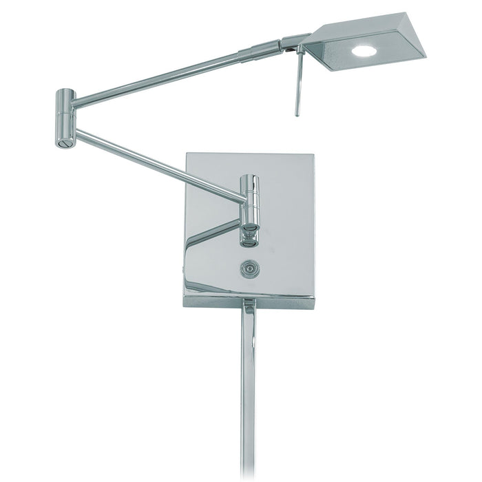 George Kovacs P4318-077 George's Reading Room Chrome LED Swing Arm Wall Lamp