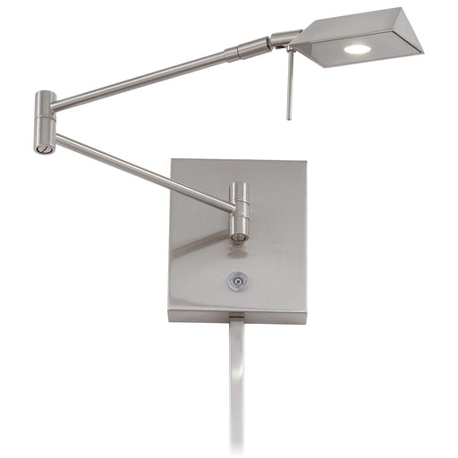 George Kovacs P4318-084 George's Reading Room Brushed Nickel LED Swing Arm Wall Lamp