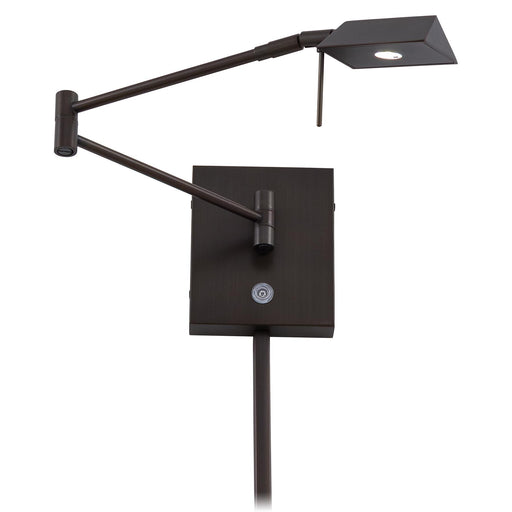 George Kovacs P4318-647 George's Reading Room Copper Bronze Patina LED Swing Arm Wall Lamp