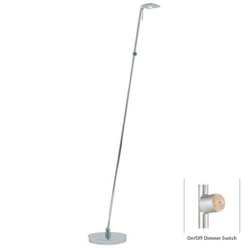 George Kovacs P4324-077 George's Reading Room Chrome LED Floor Lamp