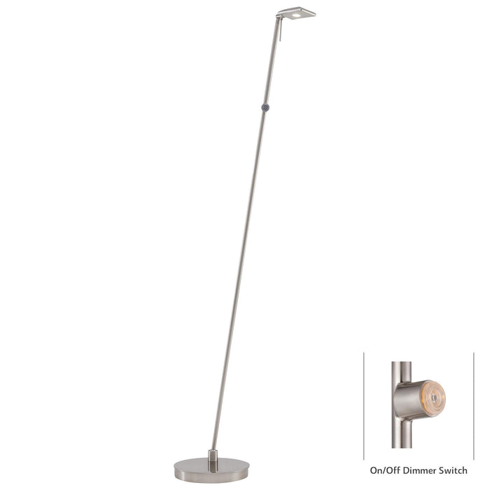 George Kovacs P4324-084 George's Reading Room Brushed Nickel LED Floor Lamp