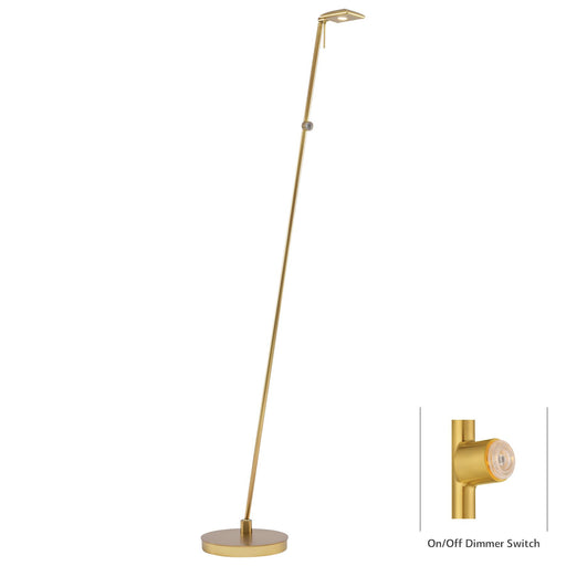 George Kovacs P4324-248 George's Reading Room Honey Gold LED Floor Lamp