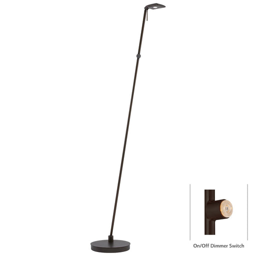 George Kovacs P4324-647 George's Reading Room Copper Bronze Patina LED Floor Lamp