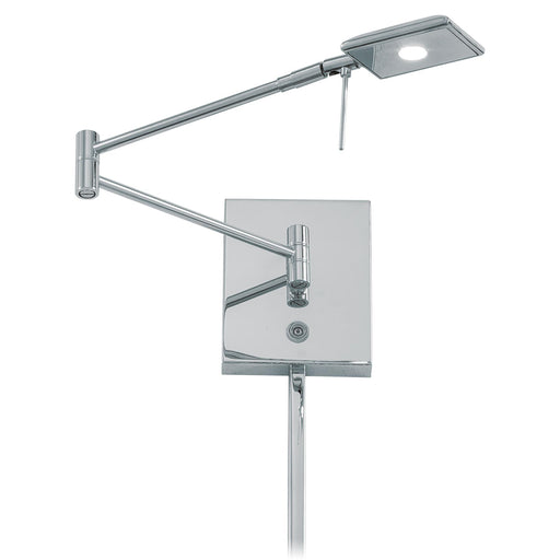 George Kovacs P4328-077 George's Reading Room Chrome LED Swing Arm Wall Lamp