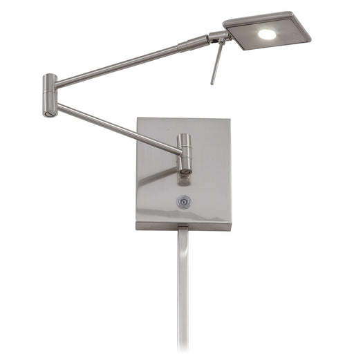 George Kovacs P4328-084 George's Reading Room Brushed Nickel LED Swing Arm Wall Lamp