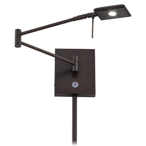 George Kovacs P4328-647 George's Reading Room Copper Bronze Patina LED Swing Arm Wall Lamp