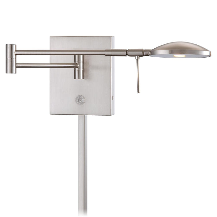 George Kovacs P4338-084 George's Reading Room Brushed Nickel LED Swing Arm Wall Lamp
