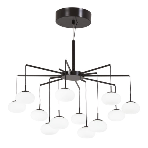 George Kovacs P8238-671-L George's Web Bronze w/ Gold Dust LED Chandelier
