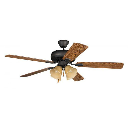 "Craftmade PD52ABZ5C4 Piedmont Aged Bronze Brushed 52"" Ceiling Fan"