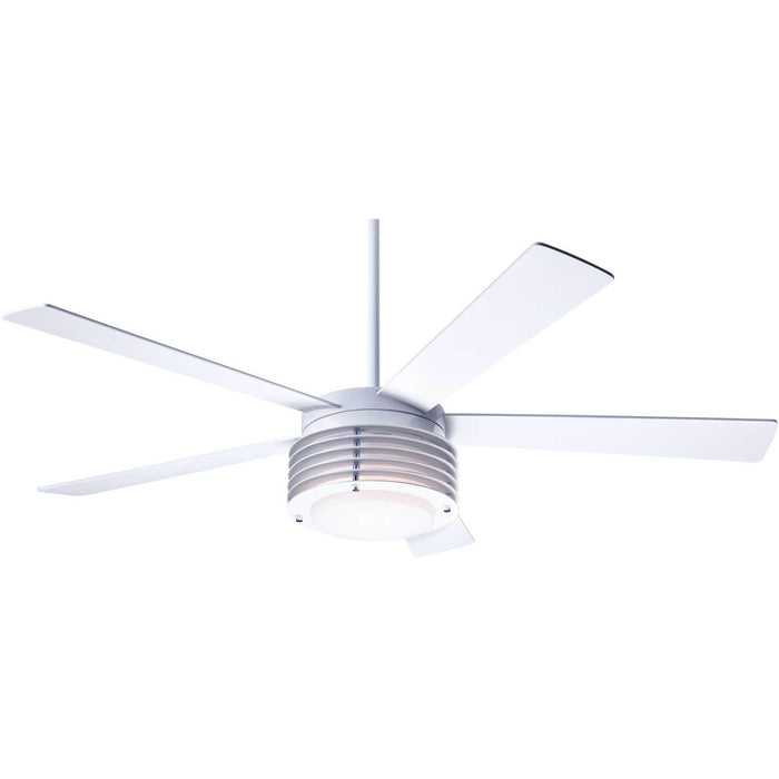 "Modern Fan Company Pharos Gloss White 52"" Ceiling Fan with Wall Control"