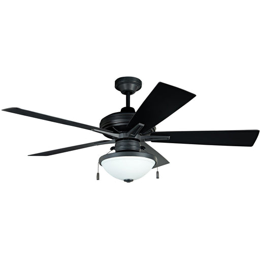 "Craftmade RVF52ABZ5 Riverfront Aged Bronze Brushed 52"" Outdoor Ceiling Fan"