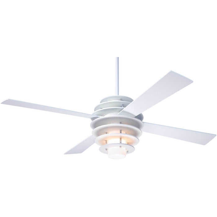 "Modern Fan Company Stella White 52"" Ceiling Fan with Remote Control"