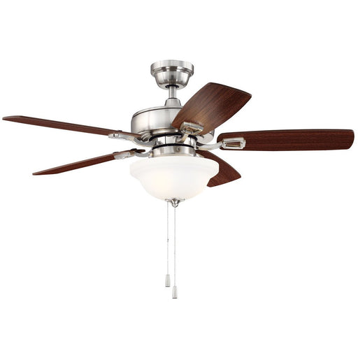 "Craftmade TCE42BNK5C1 Twist N Click Brushed Polished Nickel 42"" Ceiling Fan"