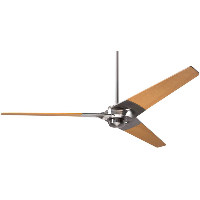 "Modern Fan Company Torsion Bright Nickel 62"" Ceiling Fan with Maples Blades"