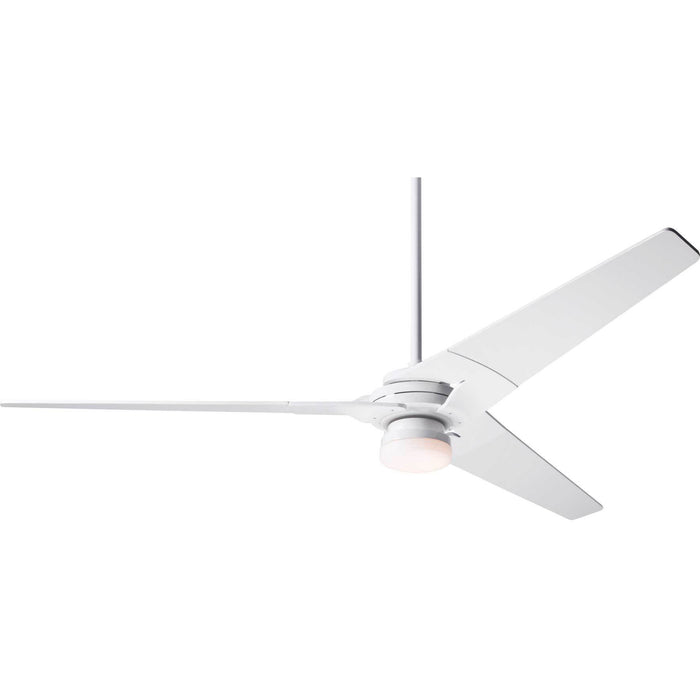 "Modern Fan Company Torsion Gloss White 62"" Ceiling Fan with LED Light and Remote Control"