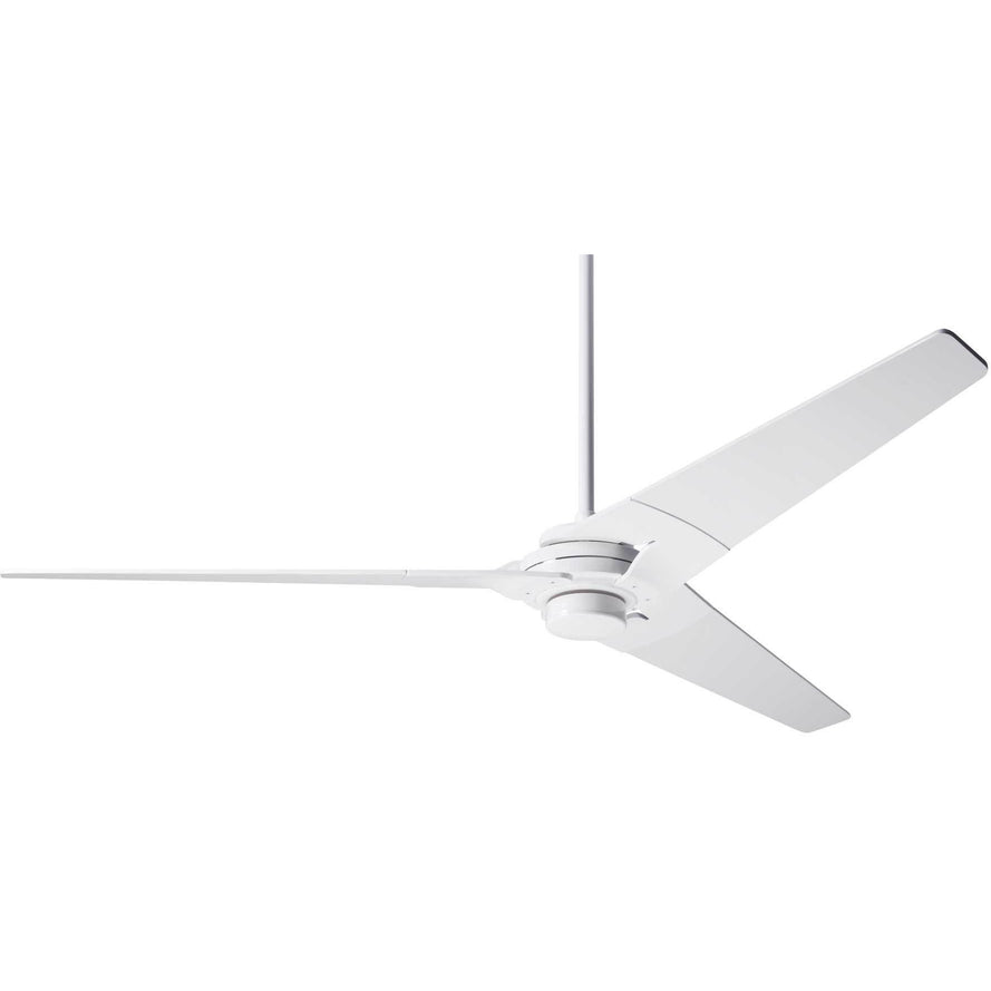 "Modern Fan Company Torsion Gloss White 62"" Ceiling Fan with Remote Control"