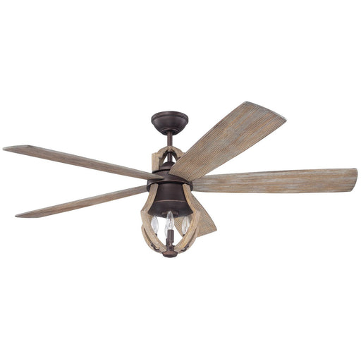 "Craftmade WIN56ABZWP5 Winton Aged Bronze Brushed/Weathered Pine 56"" Ceiling Fan"