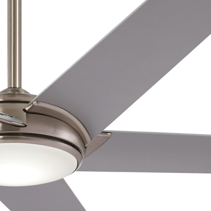 Minka Aire Raptor 60 in. LED Indoor Brushed Nickel Ceiling Fan with Remote