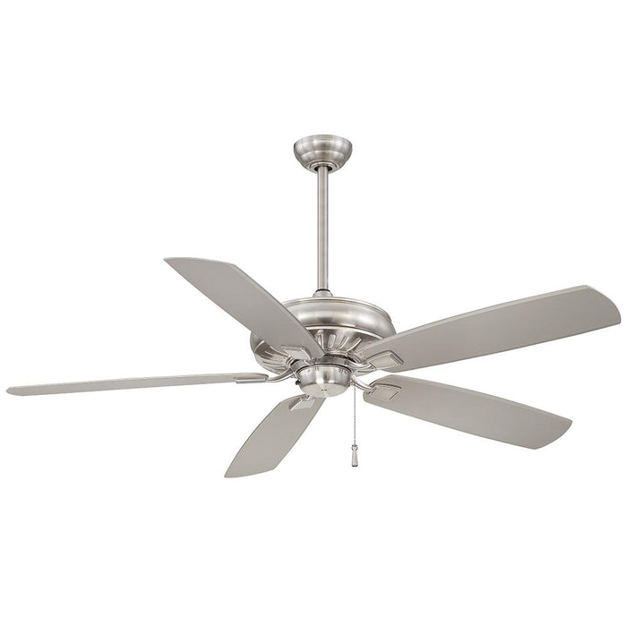 Minka Aire Sunseeker 60 in. Indoor/Outdoor Brushed Nickel Wet Ceiling Fan