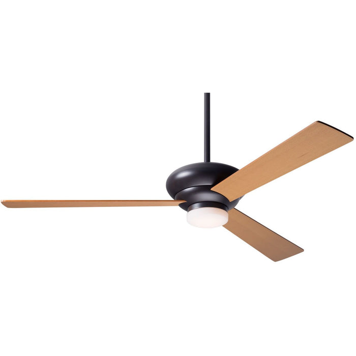 "Modern Fan Altus Dark Bronze 42"" Ceiling Fan with Maple Blades and Remote Control - ALCOVE LIGHTING"