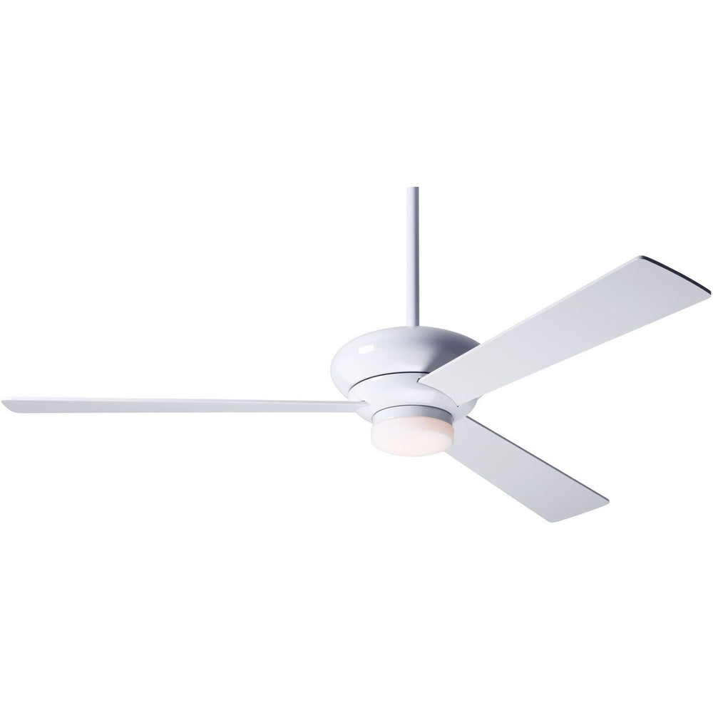 "Modern Fan Altus Gloss White 42"" Ceiling Fan with White Blades and Remote Control - ALCOVE LIGHTING"
