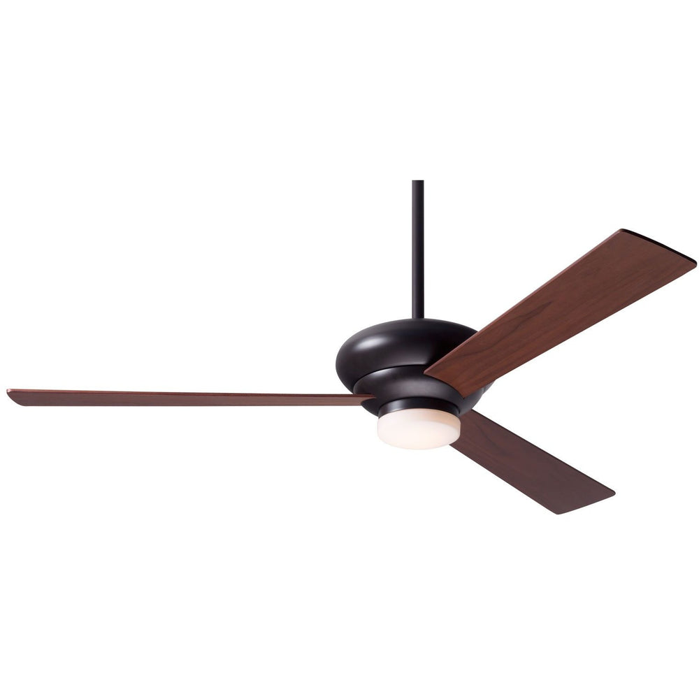 "Modern Fan Altus Dark Bronze 42"" Ceiling Fan with Mahogany Blades and Remote Control - ALCOVE LIGHTING"