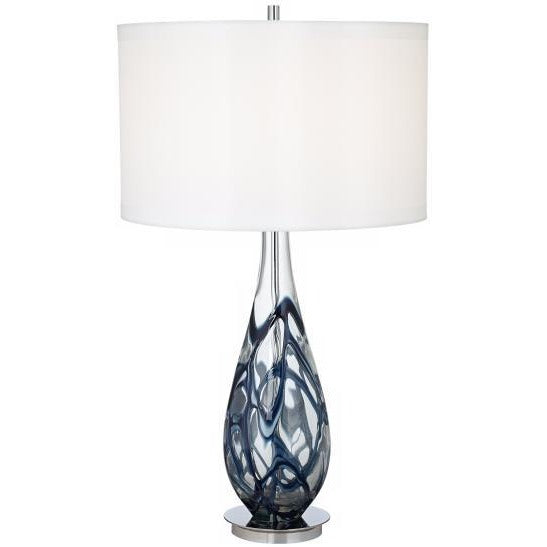 Pacific Coast Lighting 87-6910-23 Indigo Swirl Art Glass Table Lamp